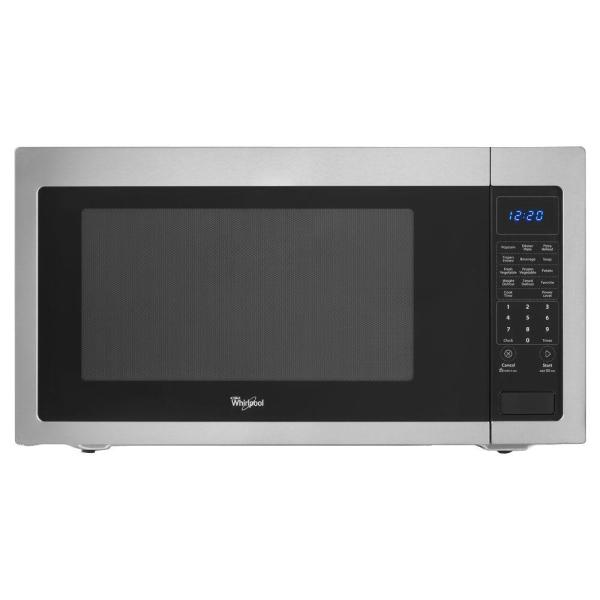Whirlpool 2.2 Cu. Ft. Countertop Microwave In Stainless Steel Built-in Capable With Sensor