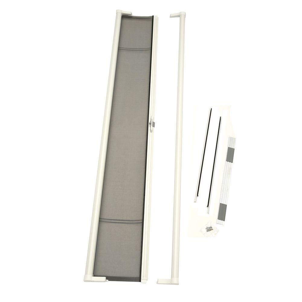 hight resolution of 36 in x 96 in brisa white tall retractable screen door