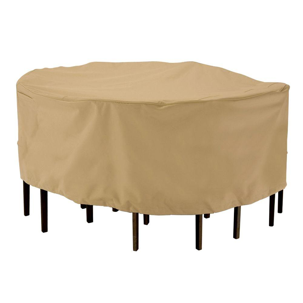 home depot outdoor patio chair covers folding replacement parts classic accessories terrazzo round large table and set cover