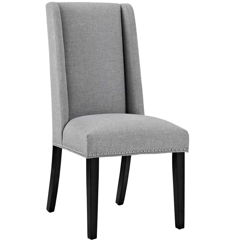 light grey chair cushion for kids modway baron gray fabric dining eei 2233 lgr the home depot