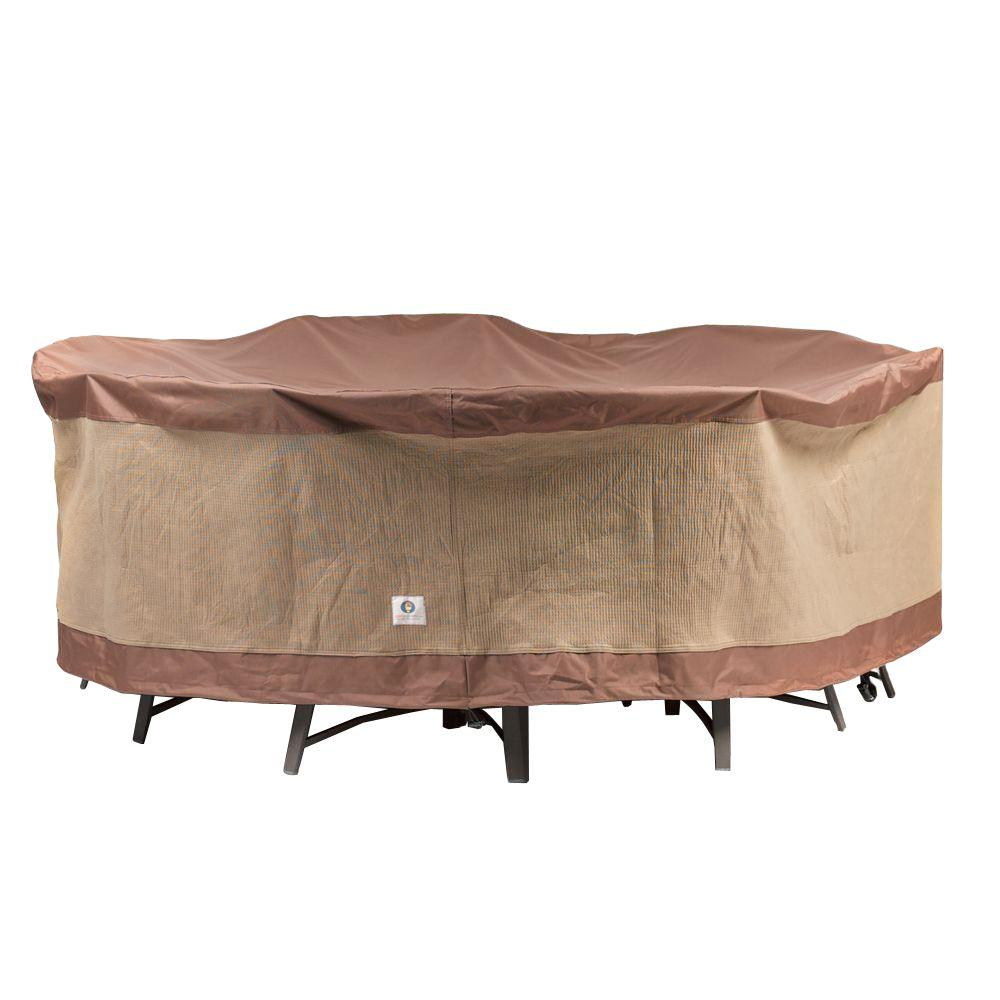 Duck Covers Ultimate 108 in Round Patio Table and Chair Set CoverUTR108108  The Home Depot