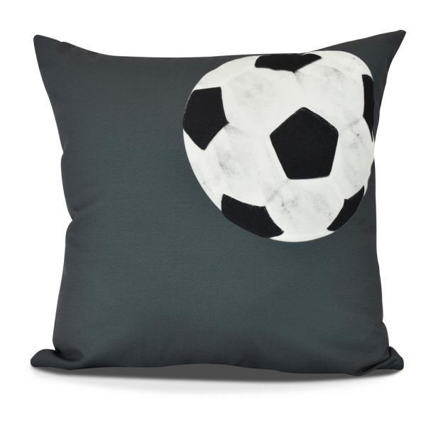 Soccer Ball Geometric Print Decorative Pillow-pg880gy6