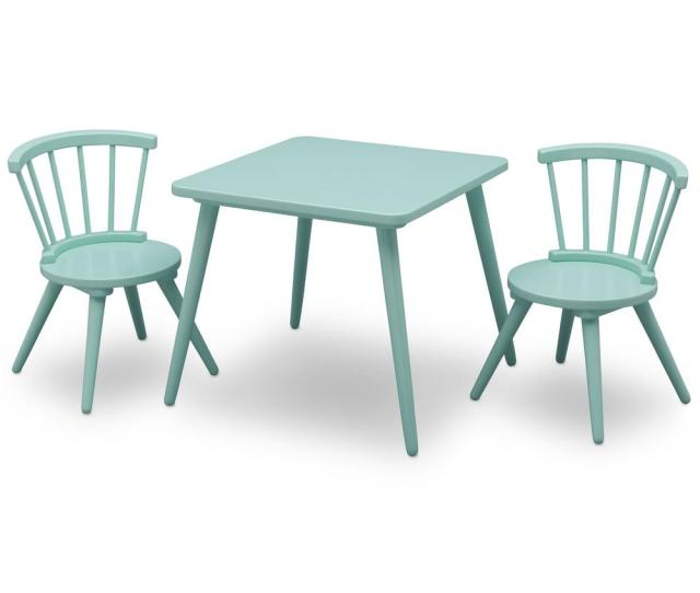 Delta Children Aqua Windsor Table And 2 Chair Set 531300 347 The Home Depot