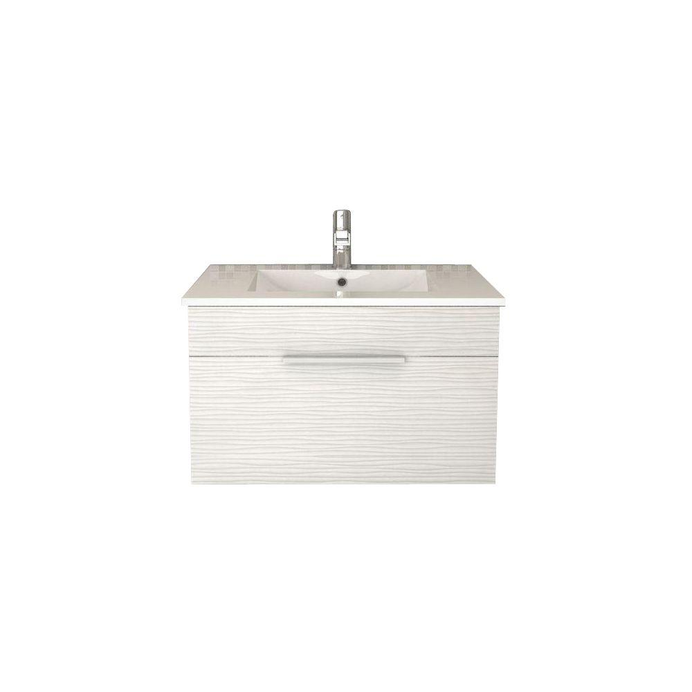 cutler kitchen and bath vanity moen faucets home depot textures collection 30 in w x 18 d 19 h contour white with acrylic top basin