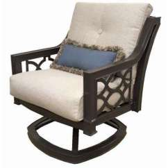 Swivel Rocker Outdoor Dining Chairs Havertys Patio The Home Depot Richmond Hill Aluminum Lounge Chair With Hybrid Smoke Cushions 2 Pack
