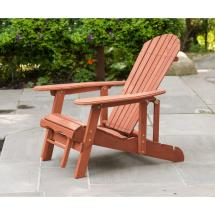 Leisure Season Reclining Patio Adirondack Chair With Pull