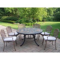 Ab Swivel Chair Ergonomic Singapore Review Mississippi 7 Piece Outdoor Dining Set With Oatmeal Cushions And Chairs Hd90094 2120 13 The Home Depot