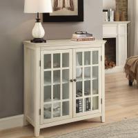 Linon Home Decor Largo Antique White Storage Cabinet ...