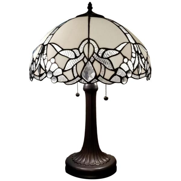 Amora Lighting 23 In Tiffany Style Jeweled Table Lamp Am241tl16b The Home Depot
