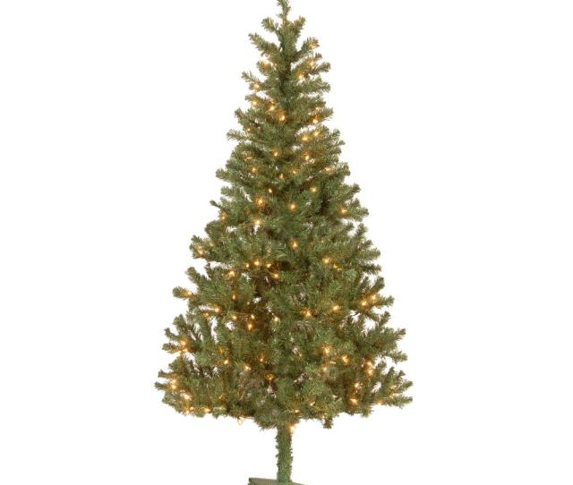 National Tree Company  Ft Canadian Grande Fir Artificial Christmas Tree With Clear Lights