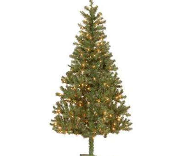 Canadian Grande Fir Artificial Christmas Tree With Clear Lights
