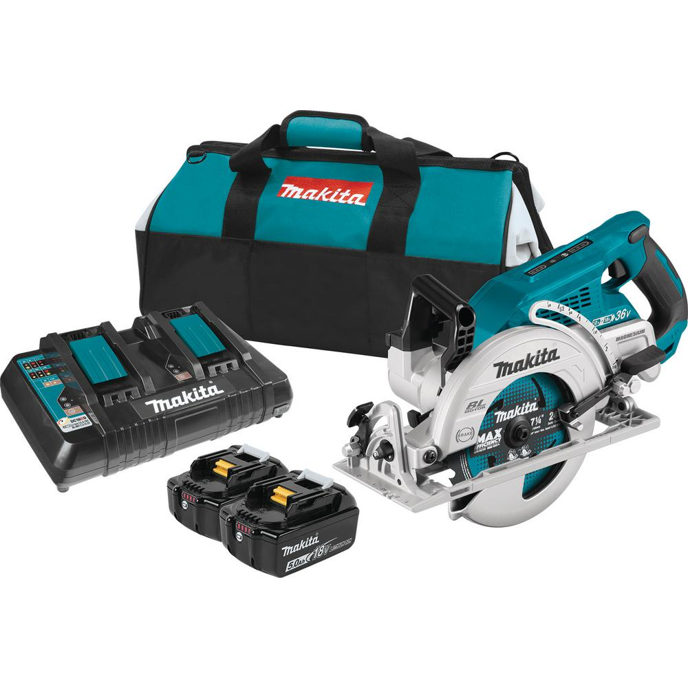 medium resolution of makita 18 volt x2 lxt 5 0ah lithium ion 36 volt