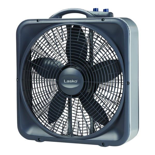 Lasko Box Fan with Thermostat