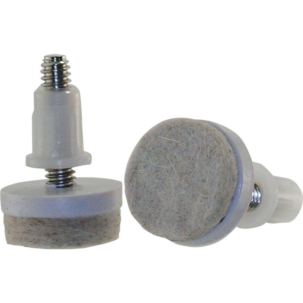 chair stoppers plastic outdoor cusions glides furniture accessories replacement threaded stem with felt base 4