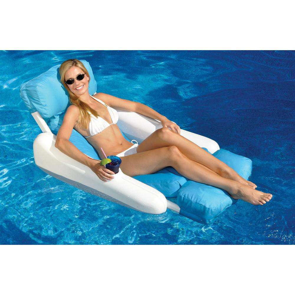 pool floating lounge chairs for swimline sunsoft sunchaser swimming chair 10025