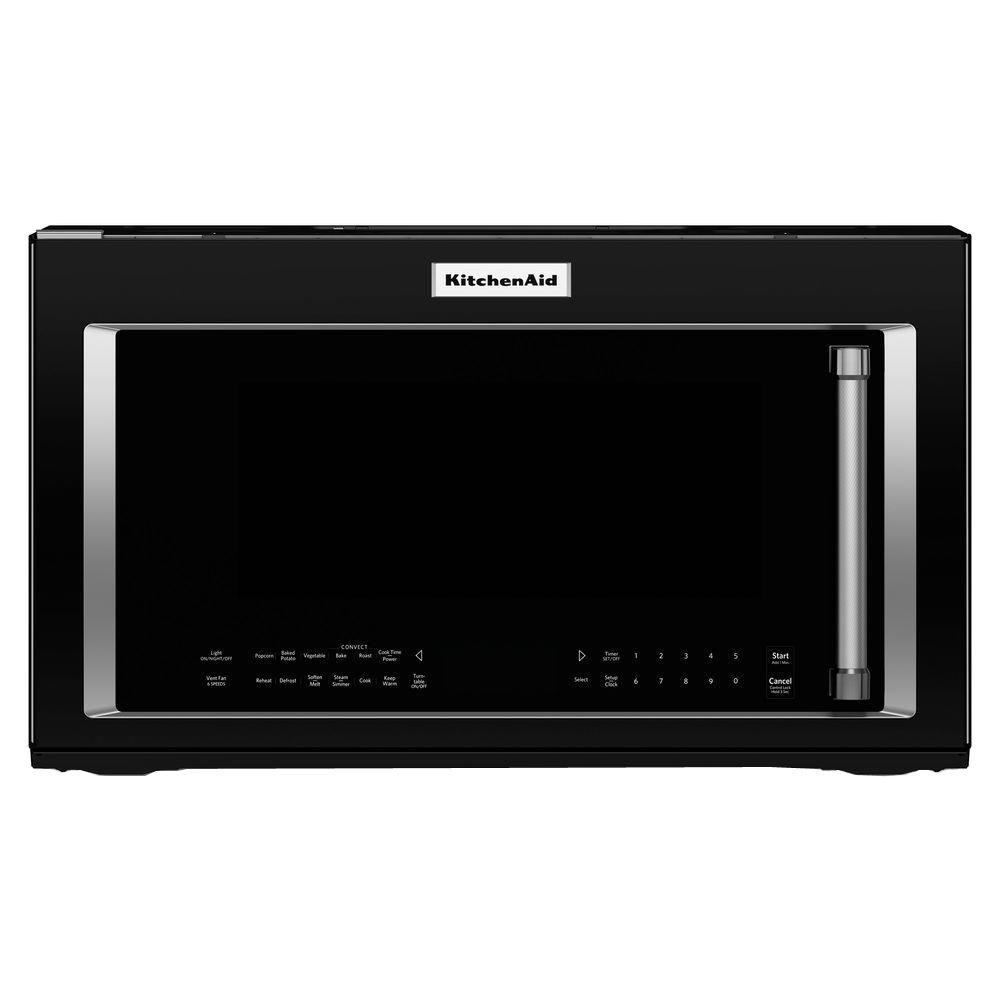 hight resolution of kitchenaid 1 9 cu ft over the range convection microwave in black rh homedepot com kitchenaid microwave control panel wiring diagram