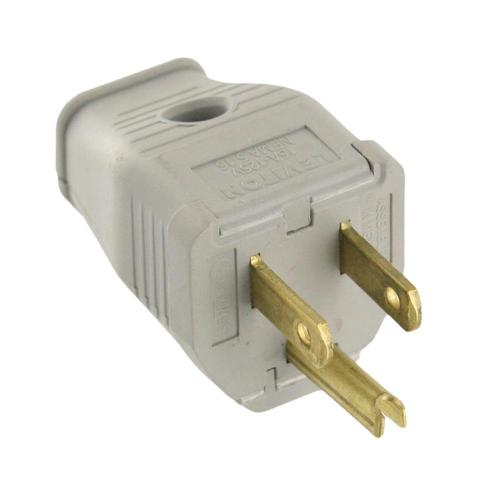 small resolution of 15 amp 125 volt 3 wire grounding plug gray