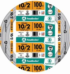 southwire 100 ft 10 2 gray solid cu uf b w g [ 1000 x 1000 Pixel ]