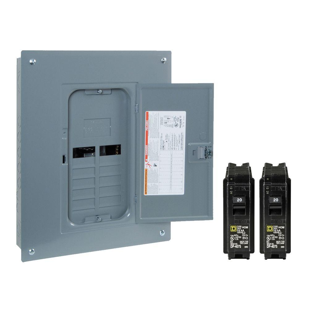 medium resolution of square d homeline 125 amp 12 space 24 circuit indoor main lug plug main lug panel box wiring also how to wire 100 breaker in panel box in