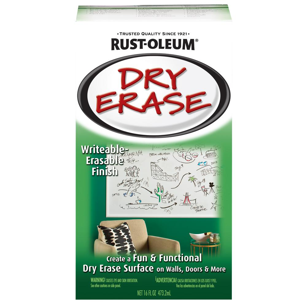 Rust Oleum Specialty 16 Oz Gloss White Dry Erase Kit 241140 The Home Depot