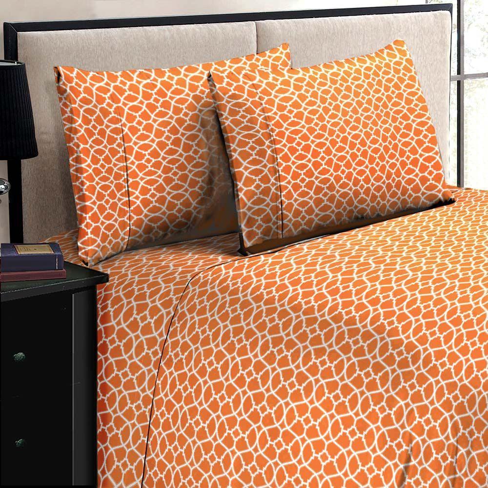 Home Dynamix Jill Morgan Fashion Printed Geo OrangeWhite