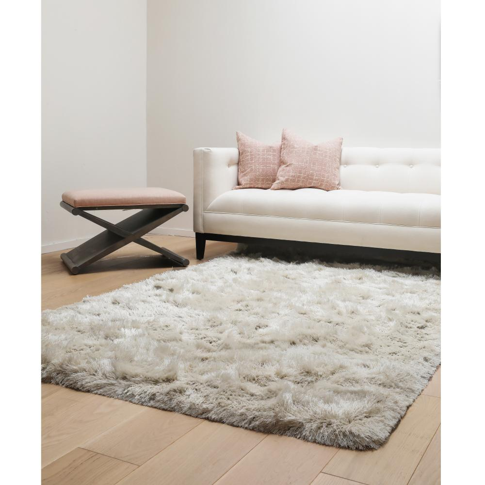 unbranded luxe shag ivory 8 ft x 10 ft area rug 8501 8x10 the home depot