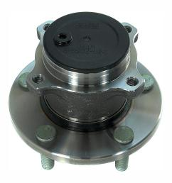 rear wheel bearing and hub assembly fits 2004 2008 mazda 3 [ 1000 x 1000 Pixel ]
