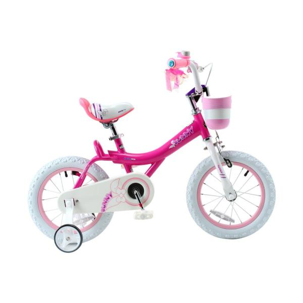Royalbaby Bunny Girl' Bike 14 In. Wheels With Basket And Training Kids Girls