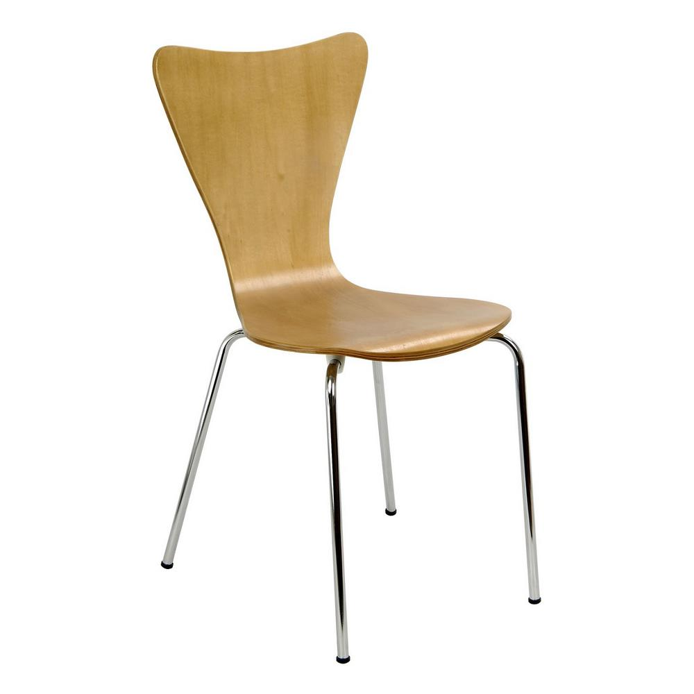chair steel legs covers and linens rentals legare bent plywood natural wood stack with chrome plated metal