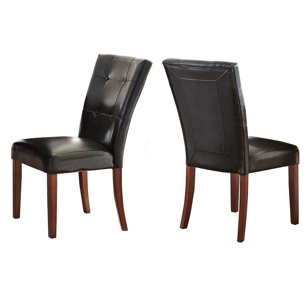 black parsons chair slipcover wingback diy steve silver company granite bello set of 2