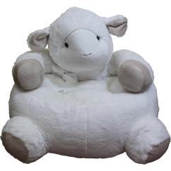 Kids Plush Chairs Samsonite Folding Chair White Lamb Sheepchair The Home Depot
