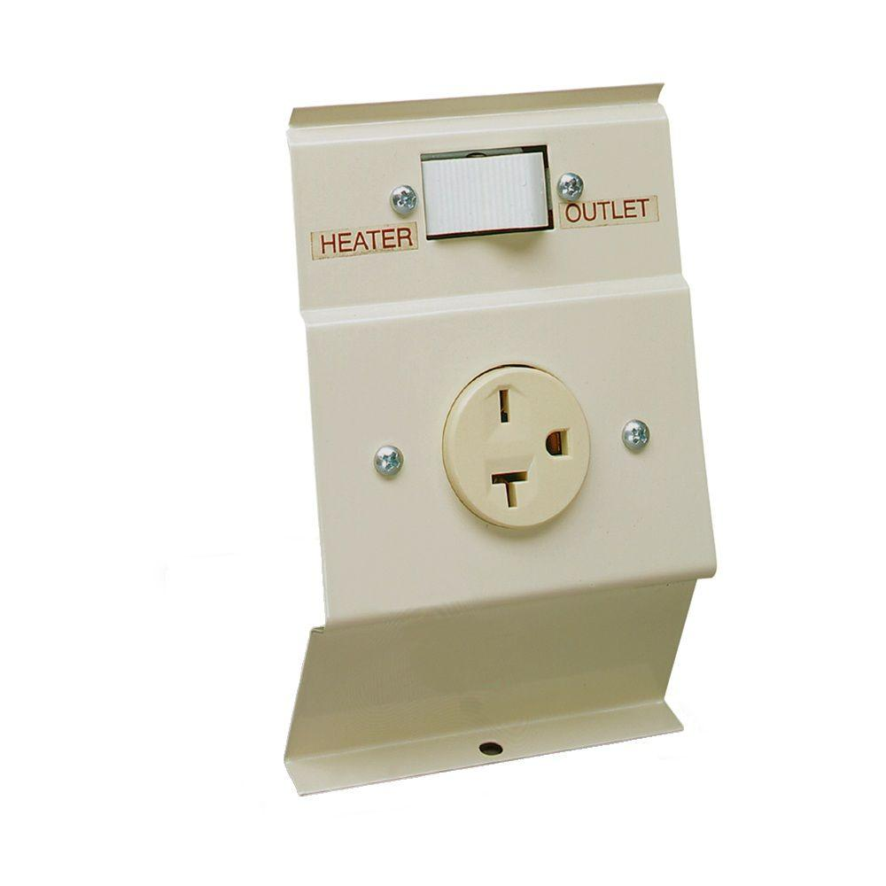 medium resolution of cadet f series almond baseboard load transfer 240 volt heater to outlet switch kit