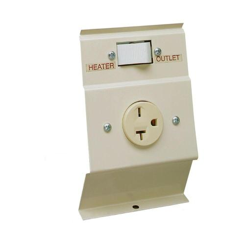 small resolution of cadet f series almond baseboard load transfer 240 volt heater to outlet switch kit