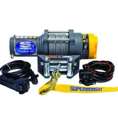 superwinch terra series 25 12 volt atv winch with 4 way roller fairlead and [ 1000 x 1000 Pixel ]