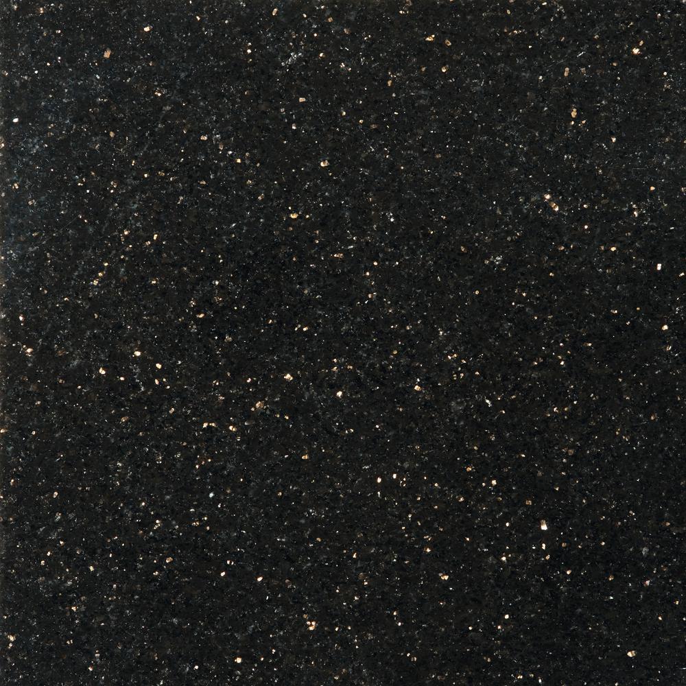 kitchen backsplash tile ideas scratch resistant sinks emser granite galaxy black polished 12.01 in. x in ...