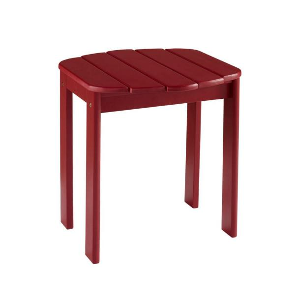 Linon Home Decor Adirondack Red End Table-thd00451