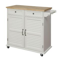 Small Kitchen Carts Copper Faucets Kohler Usl Portland White Cart Sk19276c1 Pw The Home Depot