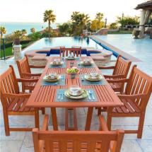 Vifah English Garden Eucalyptus 7-piece Patio Dining Set