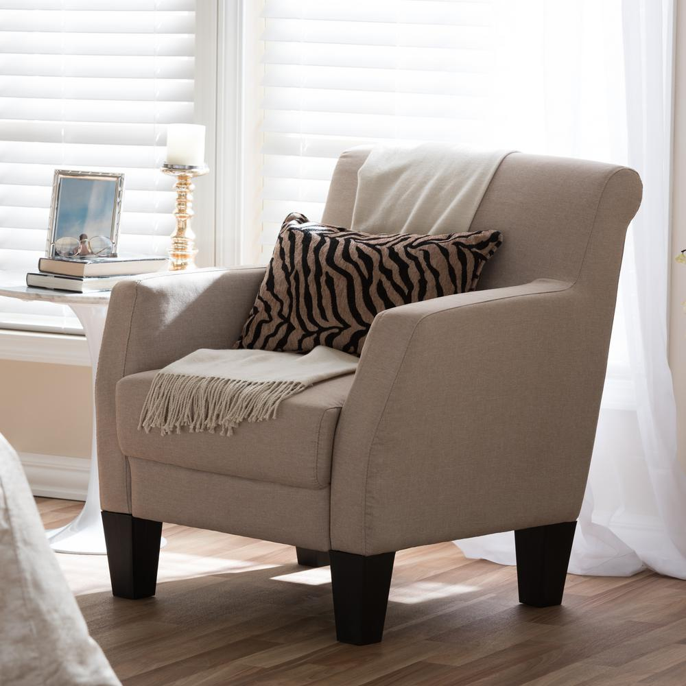 fabric accent chairs living room southwestern decor baxton studio beige upholstered chair 28862