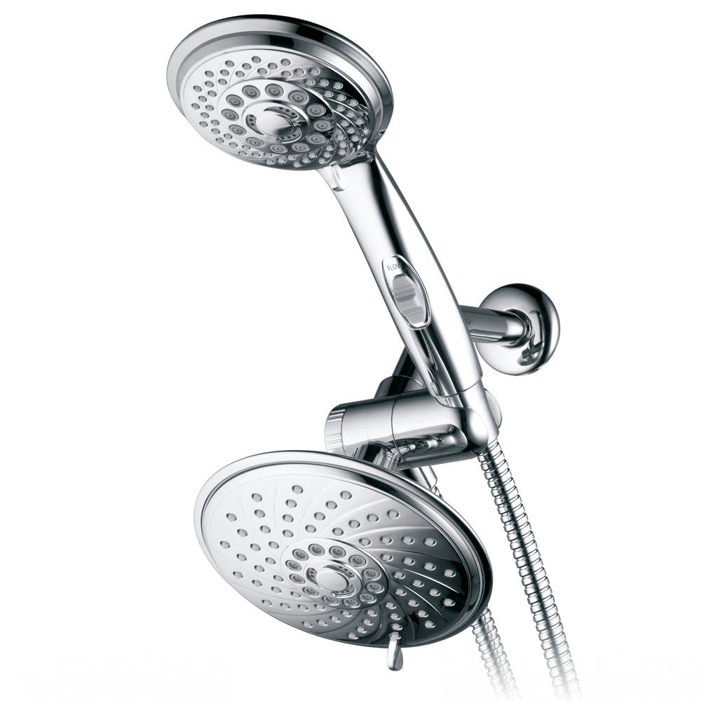 Hotel Spa 30-Spray Hand Shower and Shower Head Combo Kit