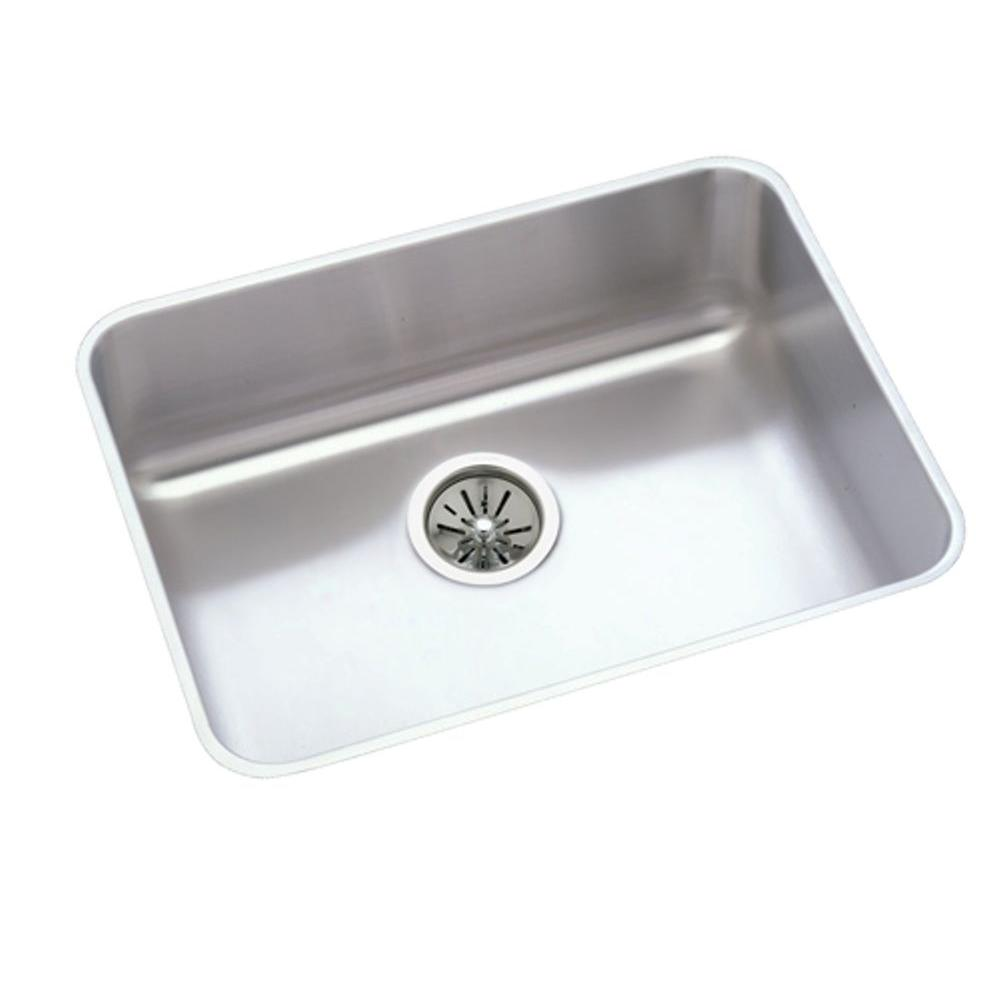 24 inch kitchen sink narrow island with seating elkay lustertone undermount stainless steel in single bowl 7 5