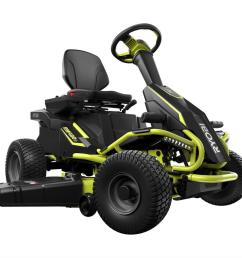 75 ah battery electric rear engine riding lawn mower [ 1000 x 1000 Pixel ]