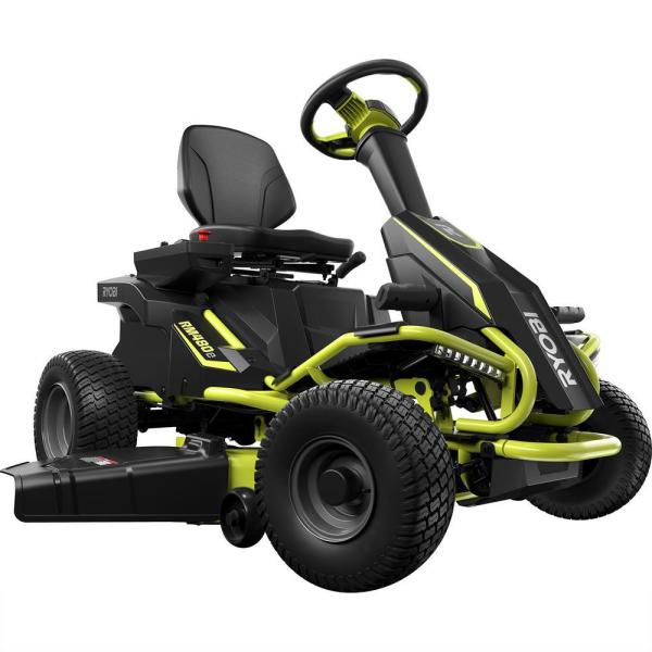 Ryobi 38 In. 75 Ah Battery Electric Rear Engine Riding Lawn Mower-ry48110 - Home Depot