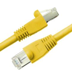 cat6a snagless shielded stp network patch cable yellow [ 1000 x 1000 Pixel ]