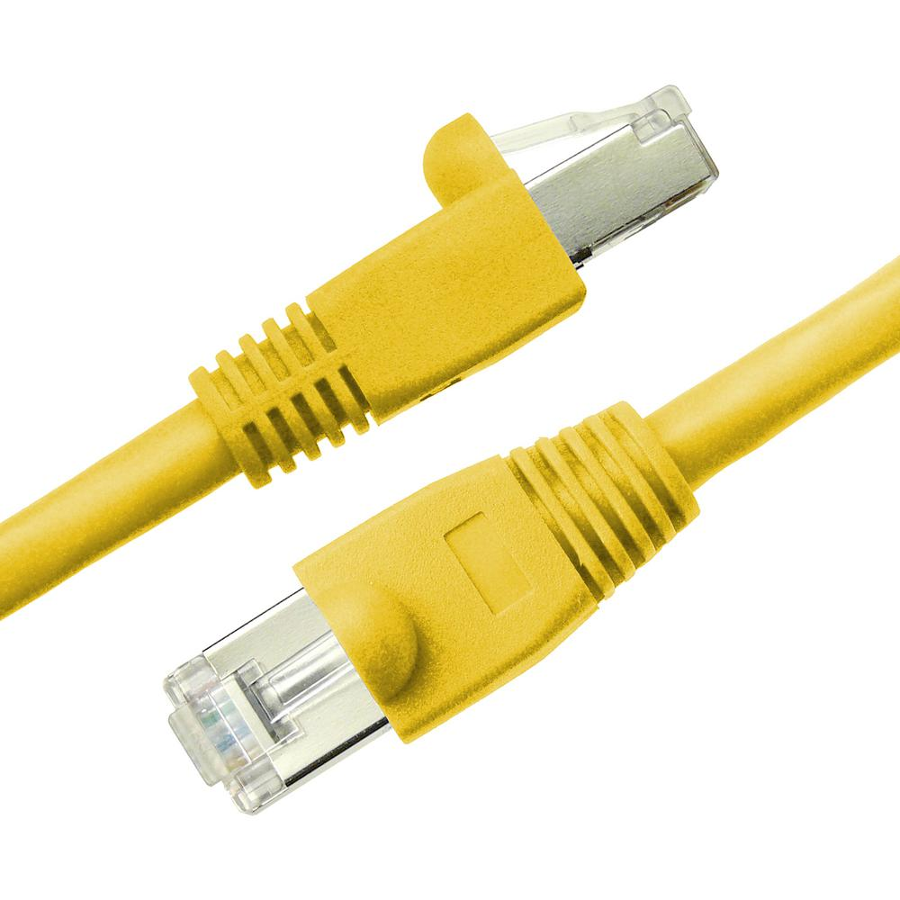 hight resolution of cat6a snagless shielded stp network patch cable yellow