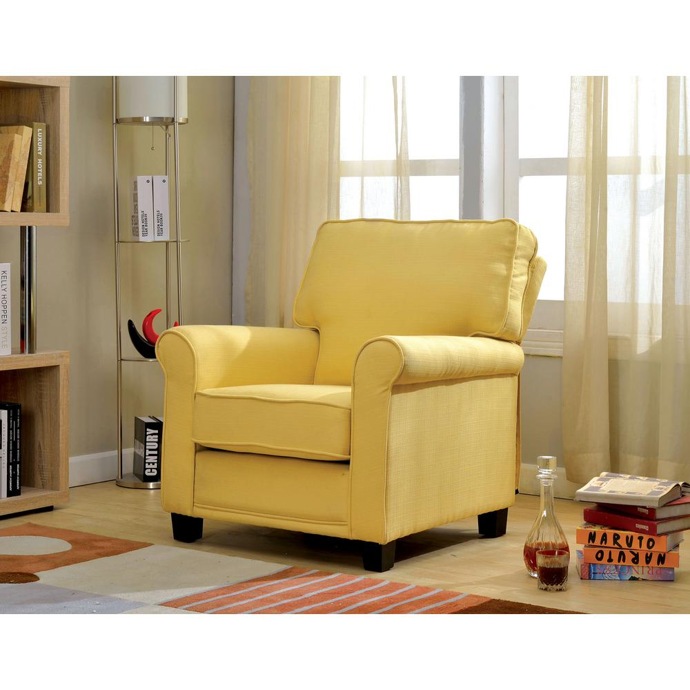 transitional accent chairs amazon lawn william s home furnishing yellow belem chair cm