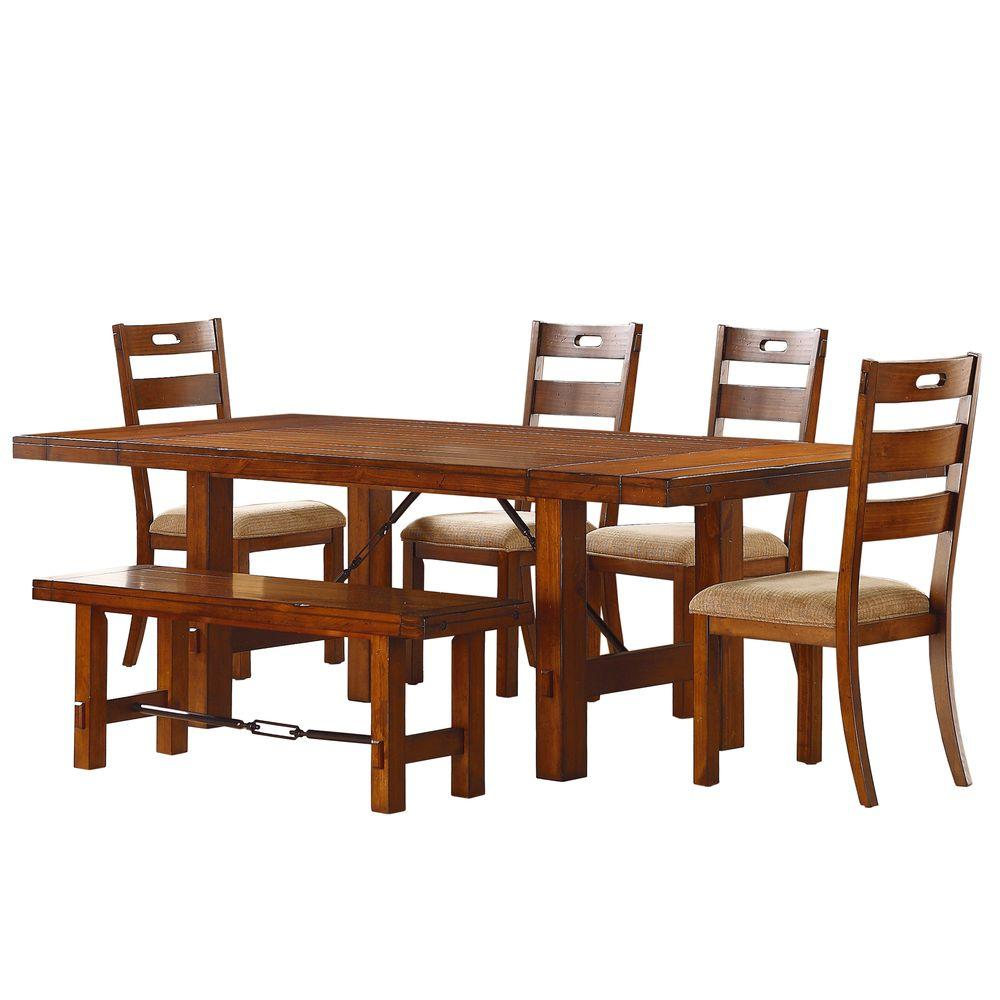 antique oak dining chairs gaming pc chair homesullivan honea 6 piece vintage set 402515 966pc the