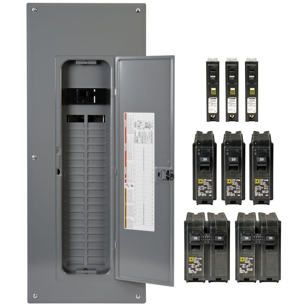 medium resolution of square d homeline 200 amp 40 space 80 circuit indoor main breaker plug