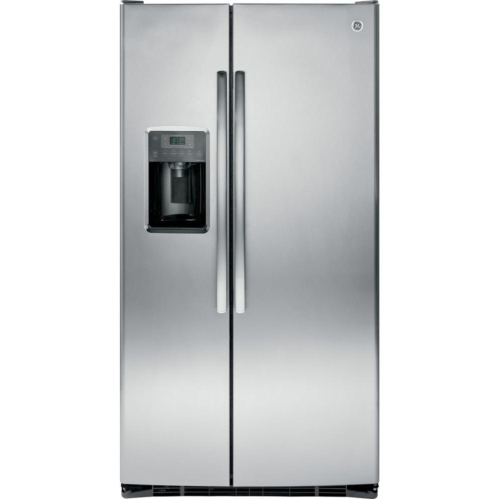 medium resolution of ge adora 25 3 cu ft side by side refrigerator in stainless steel energy star