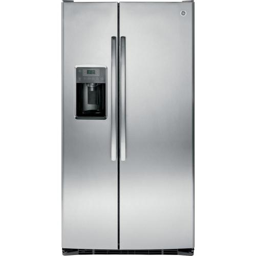 small resolution of ge adora 25 3 cu ft side by side refrigerator in stainless steel energy star